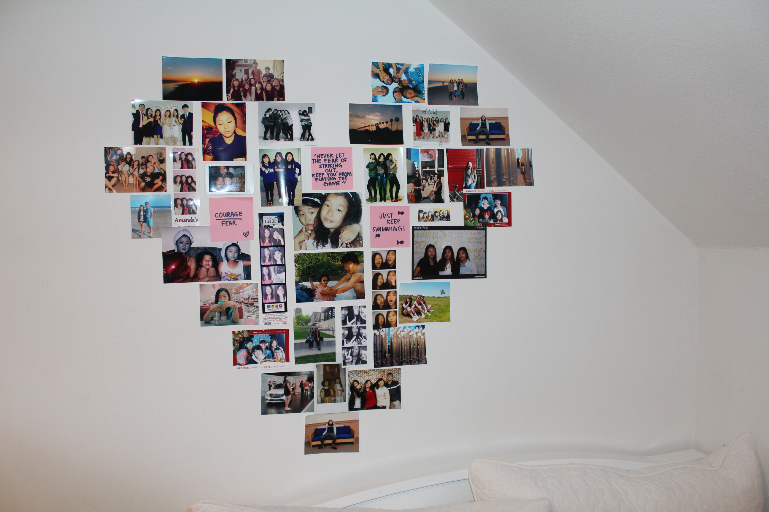 Pictures On The Wall Decorate Your Room Heart Collage Wall