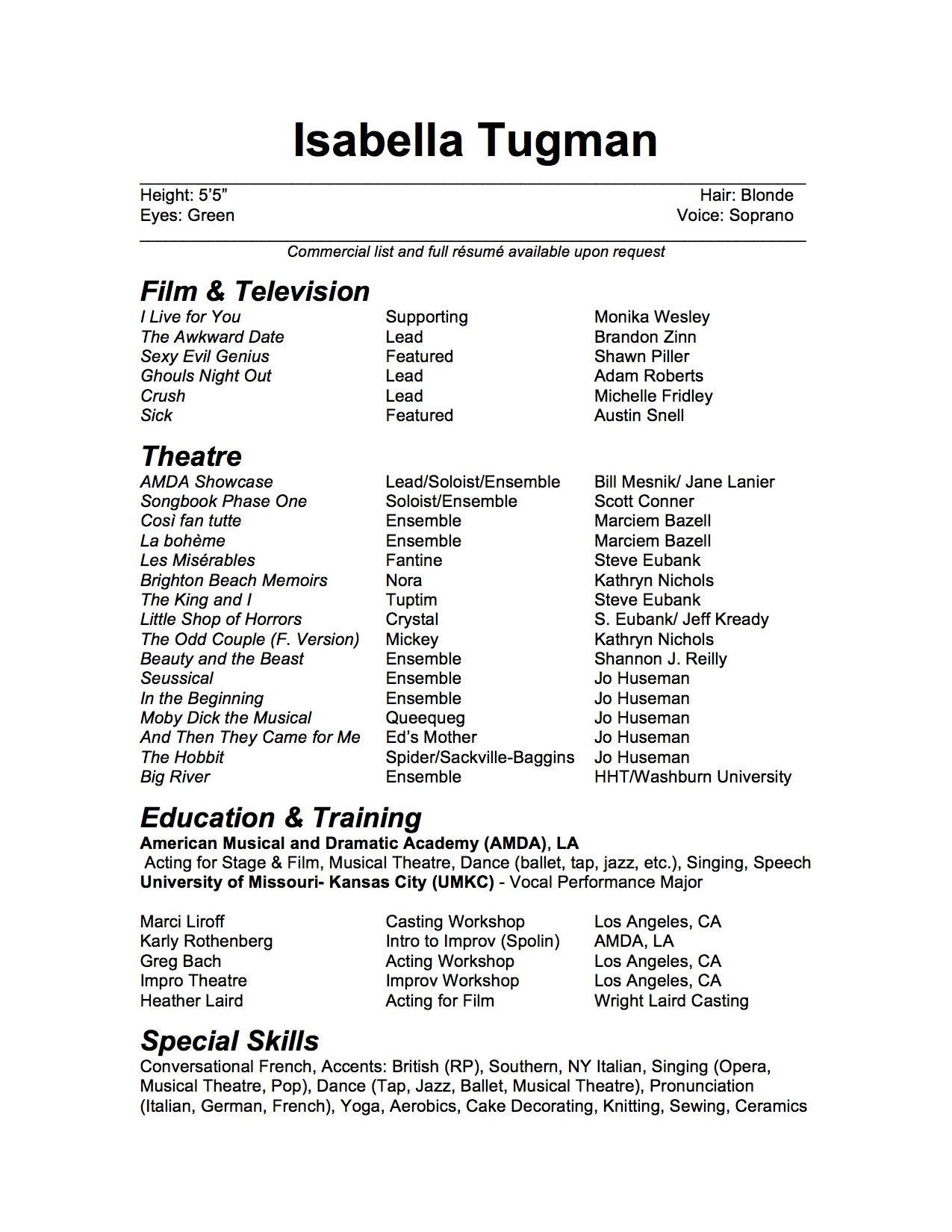 how to create a resume on microsoft word 2007