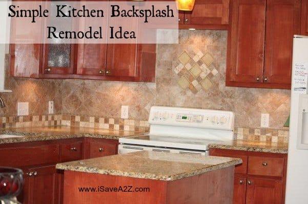 simple kitchen backsplash remodel idea isaveaz simple backsplash idea diy kitchen backsplash kitchen design size