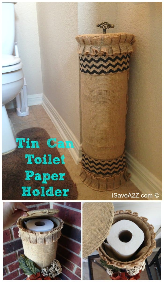 Covered Toilet Paper Storage Tin Can Toilet Paper Holder Isavea2z