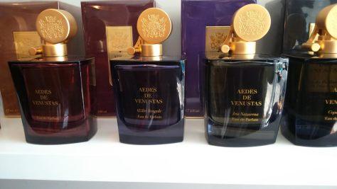The Aedes de Venustas range at Shy Mimosa perfumery, Bristol