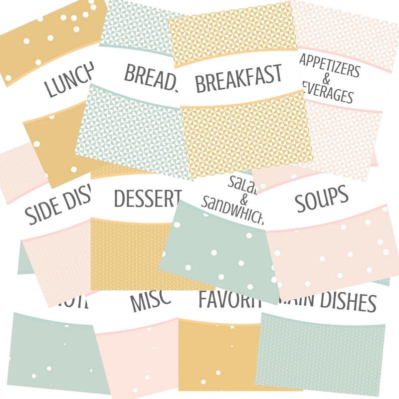 Free Recipe Binder Printables - I Scream for Buttercream