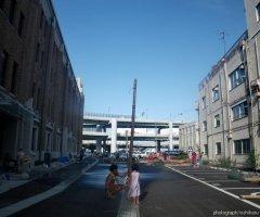7月30日 屋台村の解体も進み、元の駐車場の姿に戻っていく。