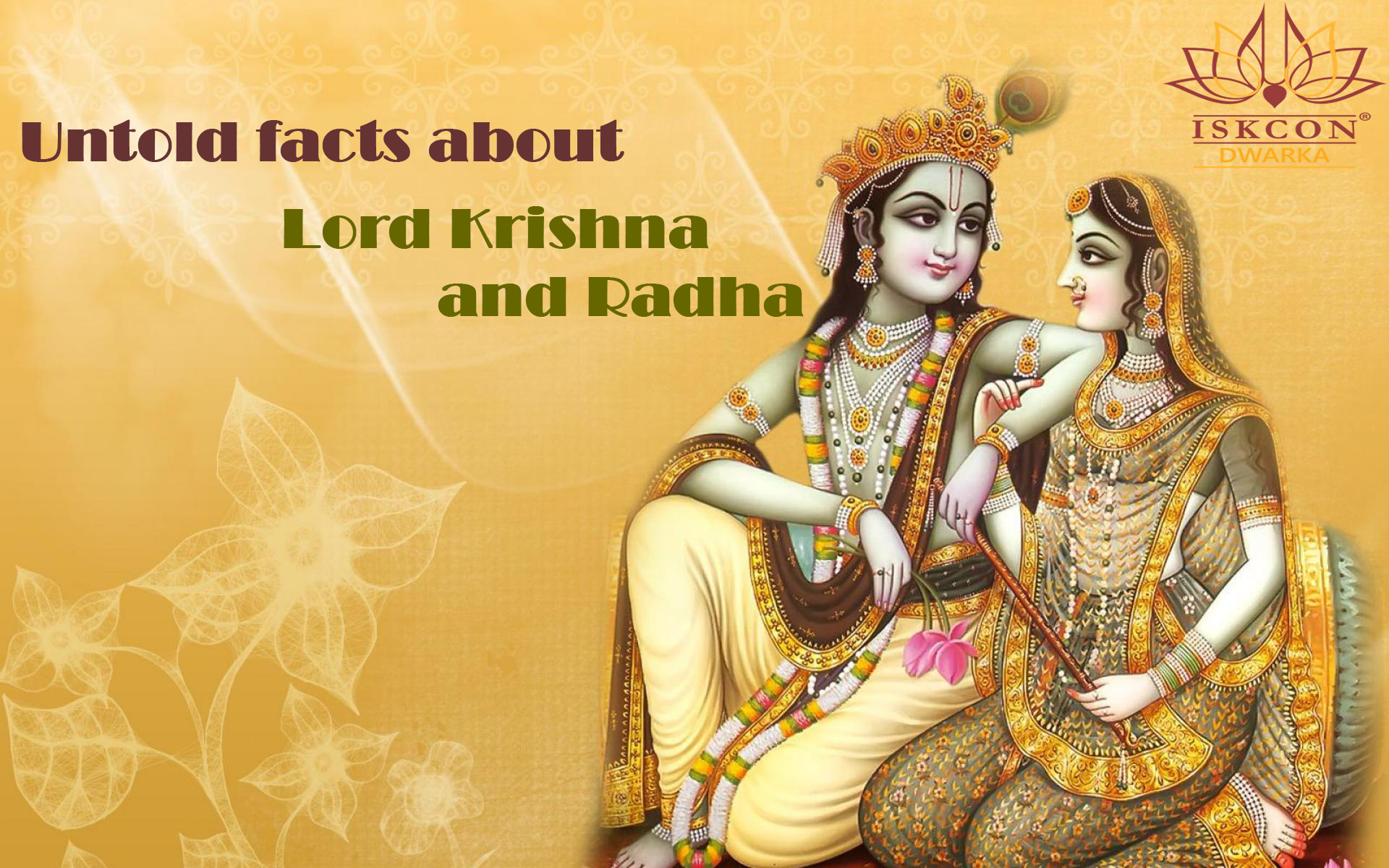 Thoughts Quotes Wallpaper Untold Facts Of Lord Krishna And Radha Iskcon Dwarka