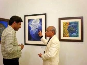 Artist Mansoor Rahi discussing the nature of art.
