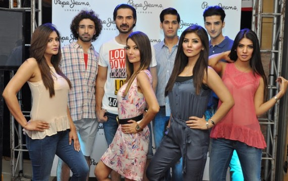 Models and fashion lovers welcome the London's chic brand, Pepe Jeans in Islamabad.