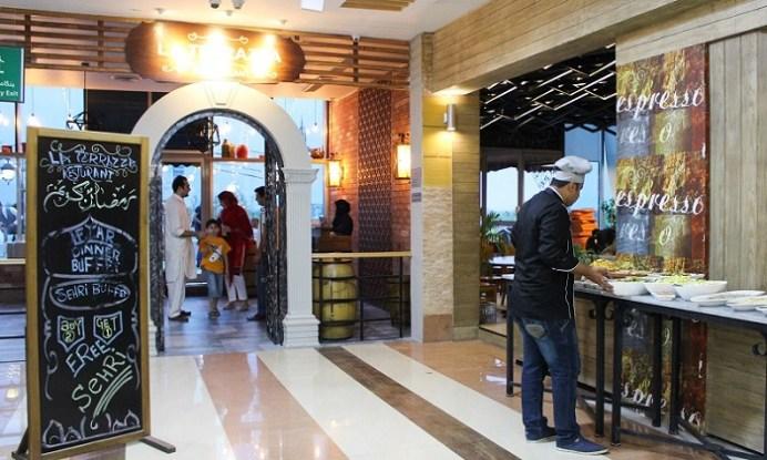Entrance to La Terrazza restaurant on third floor of Centaurus Mall in Islamabad.