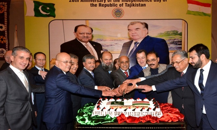 The 26th anniversary of Independence of the Republic of Tajikistan being celebrated in Islamabad, Pakistan
