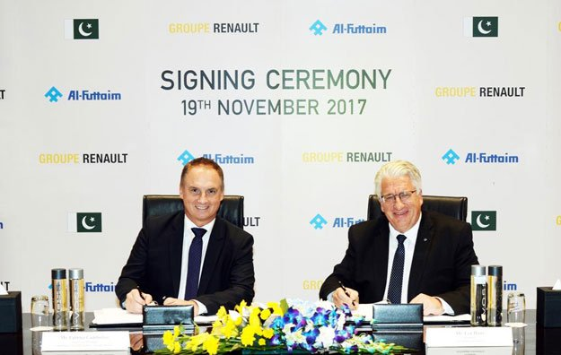 Groupe Renault and Al-Futtaim sign agreements to assemble and distribute Renault vehicles in Pakistan