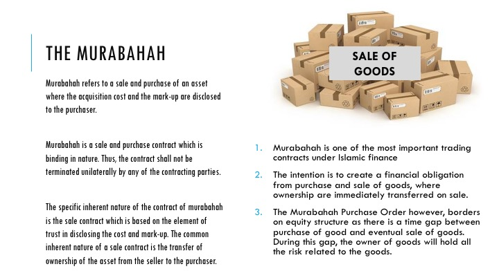 Financing  Murabahah Islamic Bankers Resource Centre - private car sale contract payments