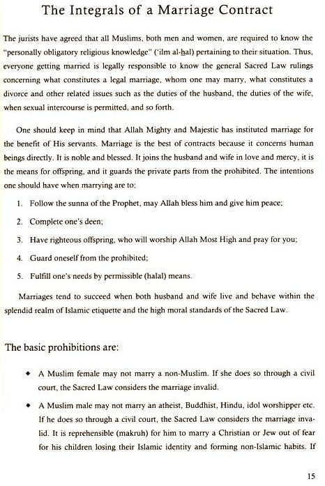 Your Islamic Marriage Contract HedayaHartford - marriage contract