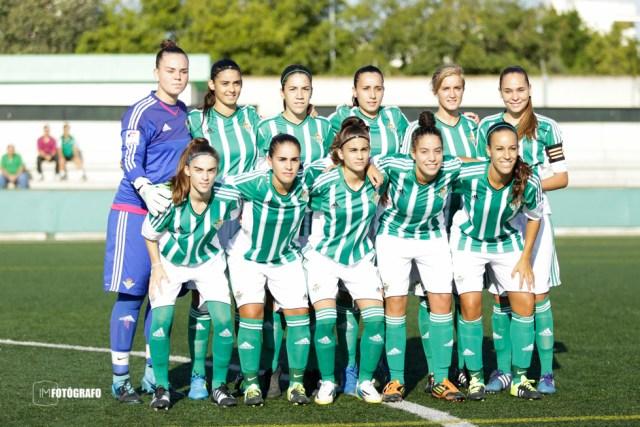 Once inicial del Real Betis Féminas en el encuentro frente al AD El Naranjo.