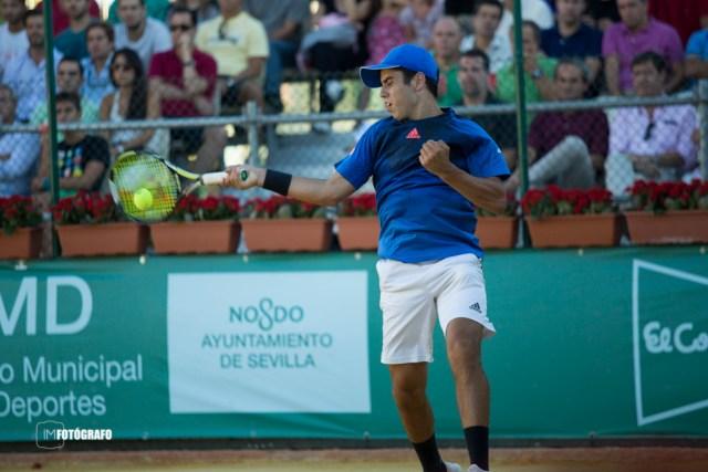 Jaume Munar en su partido de dobles.