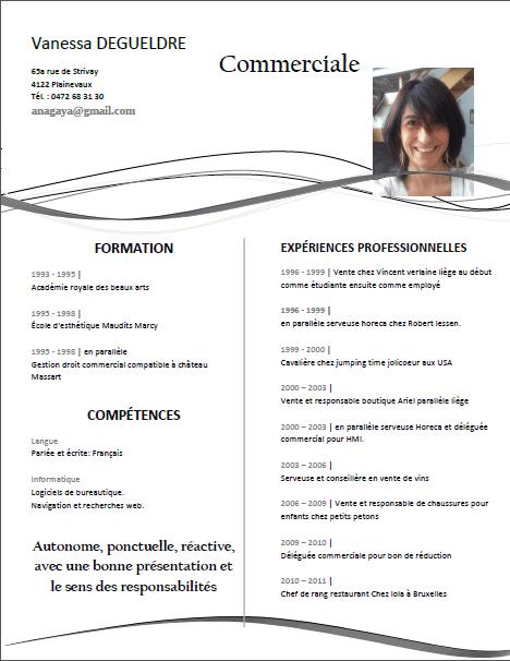 modele cv libreoffice writer