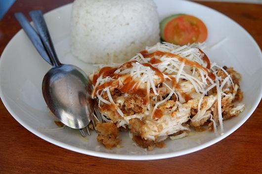Ayam Geprek Keju Cheddar