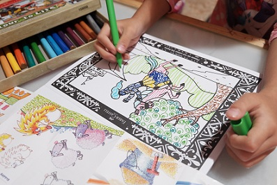mewarnai augmented reality colouring book