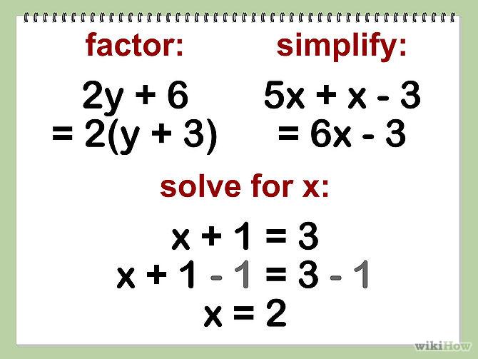 algebra 1 work...