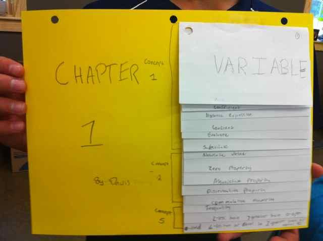 Index Card Flip Charts I Speak Math - make index card