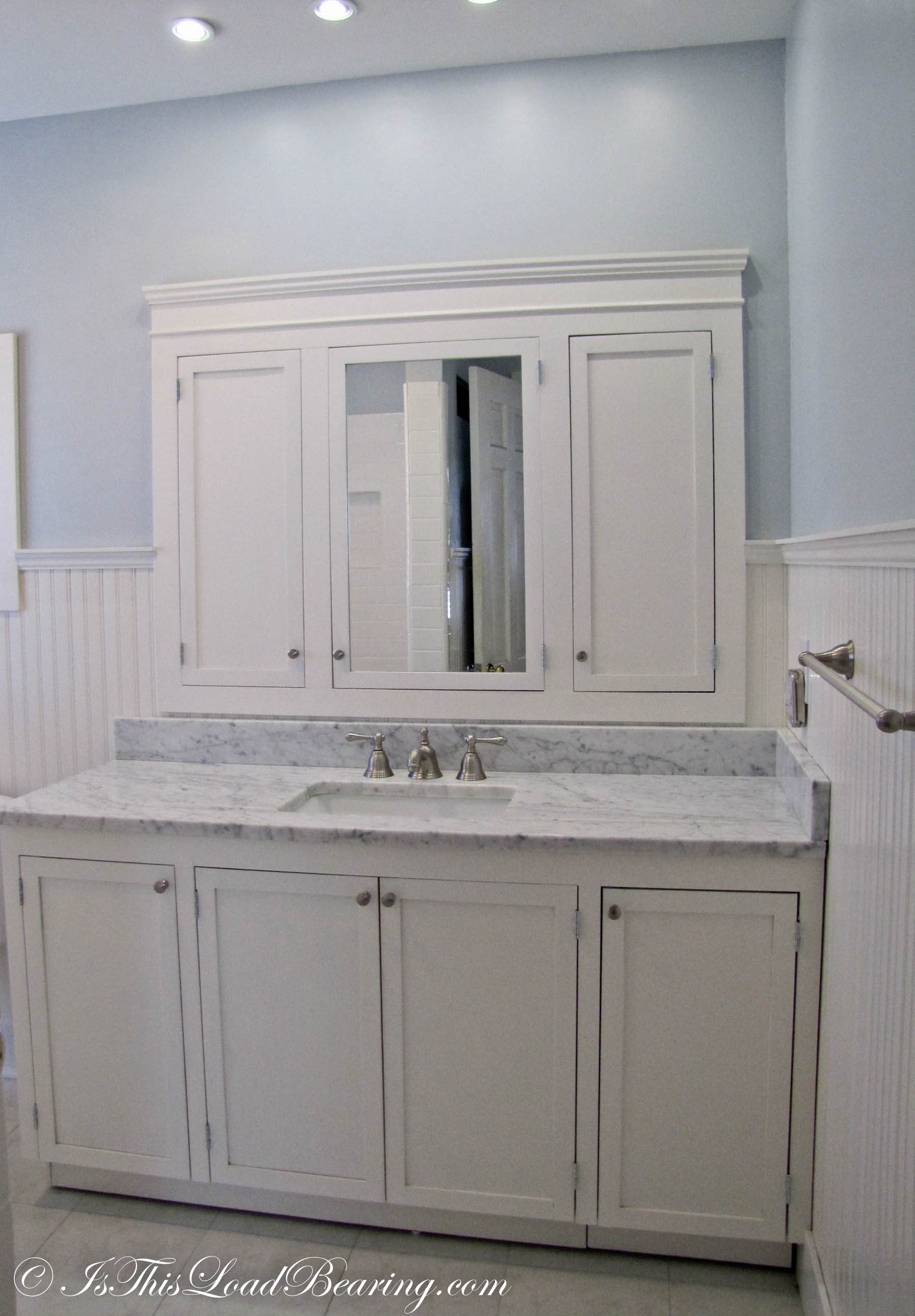 Masters Kitchen Base Cabinets Master Bath Is This Load Bearing