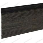 Фасадная доска ДПК, черная радиальная