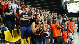 The student section has the potential to come out in full-force at the homecoming game as shown here in 2012.