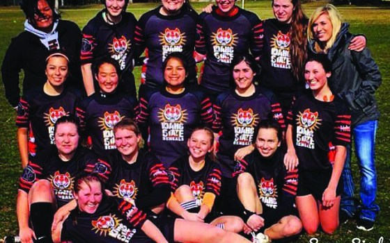 The 2015 Idaho State University women's rugby team.