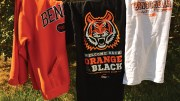ISU Bengal shirts hanging on a clothesline
