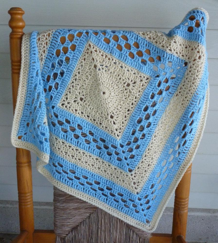 Crocheted Baby Blankets Medallion Crochet Baby Blanket Crochet Pattern By Rlj Designs Crochet Patterns Lovecrochet