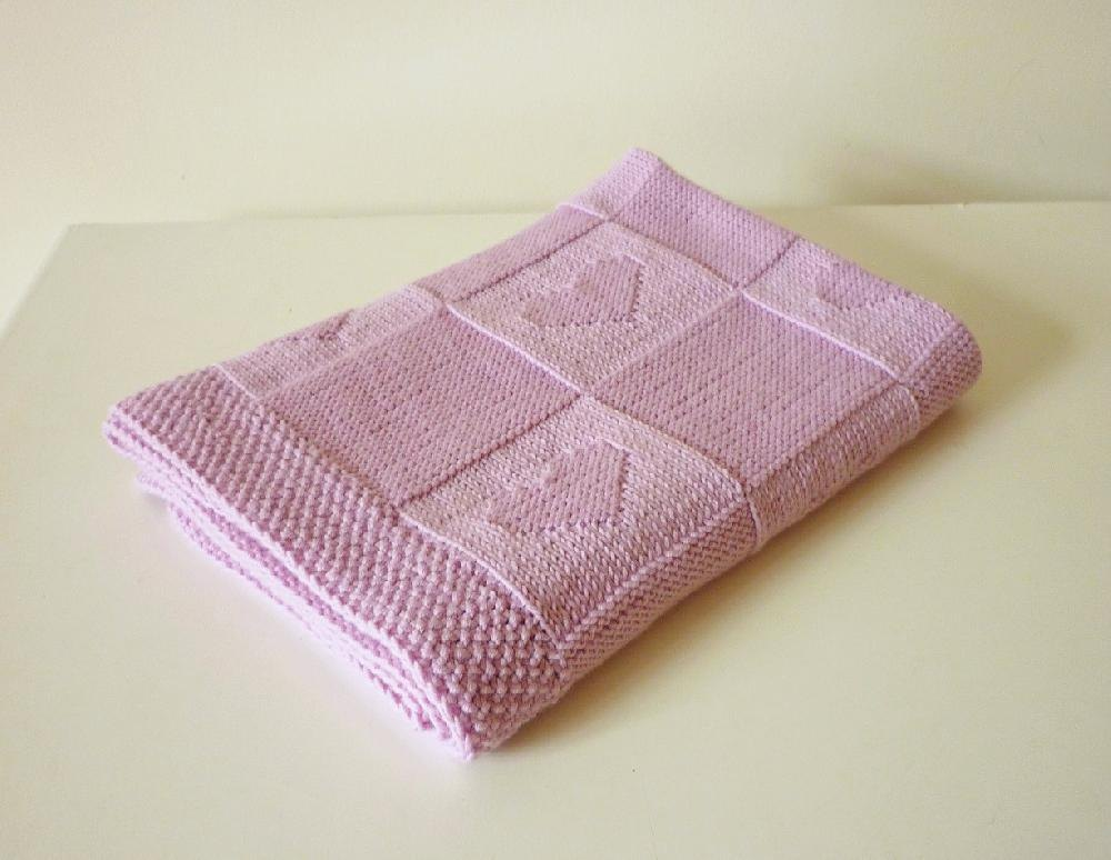 Baby Blanket Charlotte Knitting Pattern By Le Petit Mouton