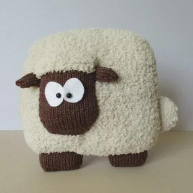 Sheep Cushion Knitting Pattern By Amanda Berry Knitting