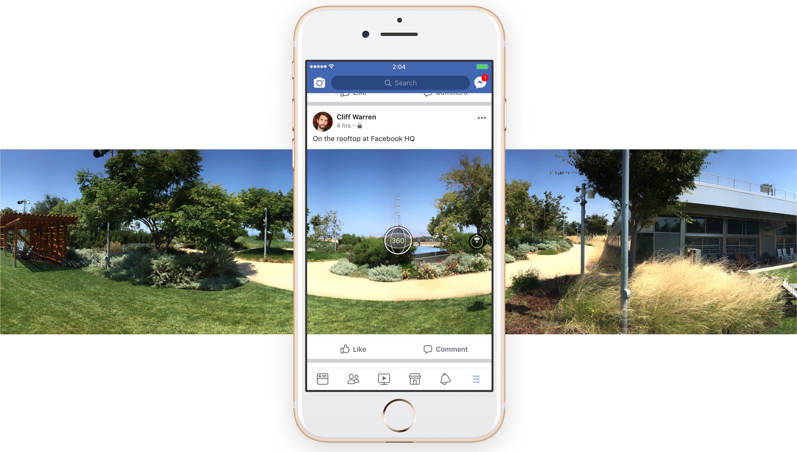 Как сделать панорамное в фейсбук