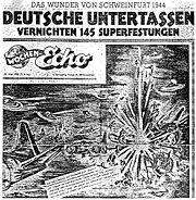 Wochen Echo, 21 maggio 1950