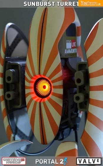 Portal 2  Sunburst Turret statue di Gaming Heads (25)