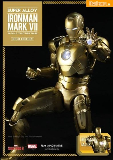 Super Alloy Iron Man Mark VII  Gold Edition (3)