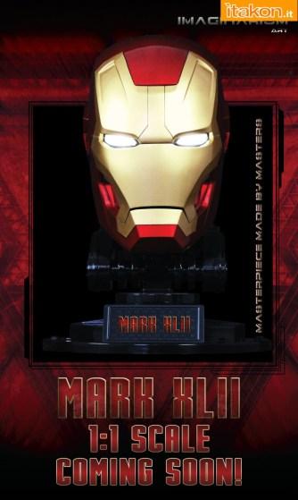 Imaginarium Art: Annunciato Iron Man Mark XLII LIfe-Size Bust Replica Masterpiece