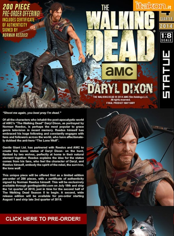 [Gentle Giant] TWD: Daryl and the Wolves Exclusive statue 18