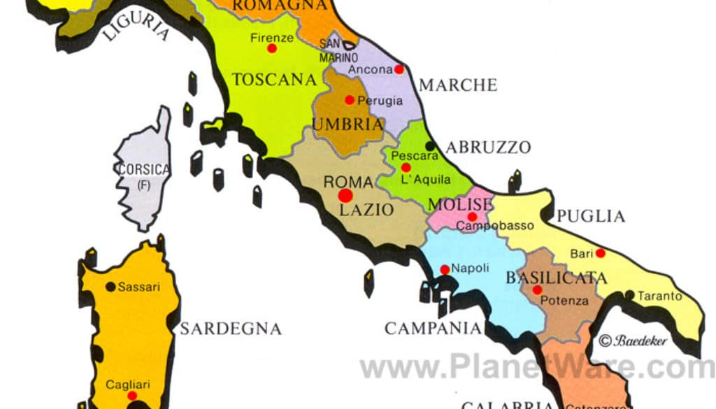 Italy Map Made Easy Which Region Is Where Learn How To