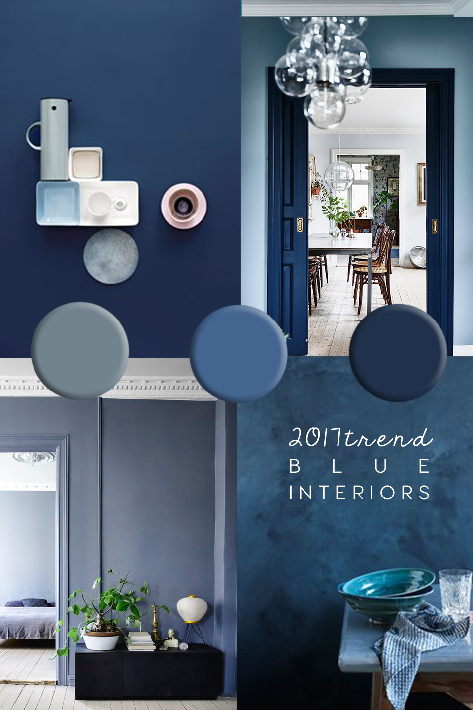 2016 Paint Trends Blue Interior Trend Paint And Home Decor Inspiration In Blue