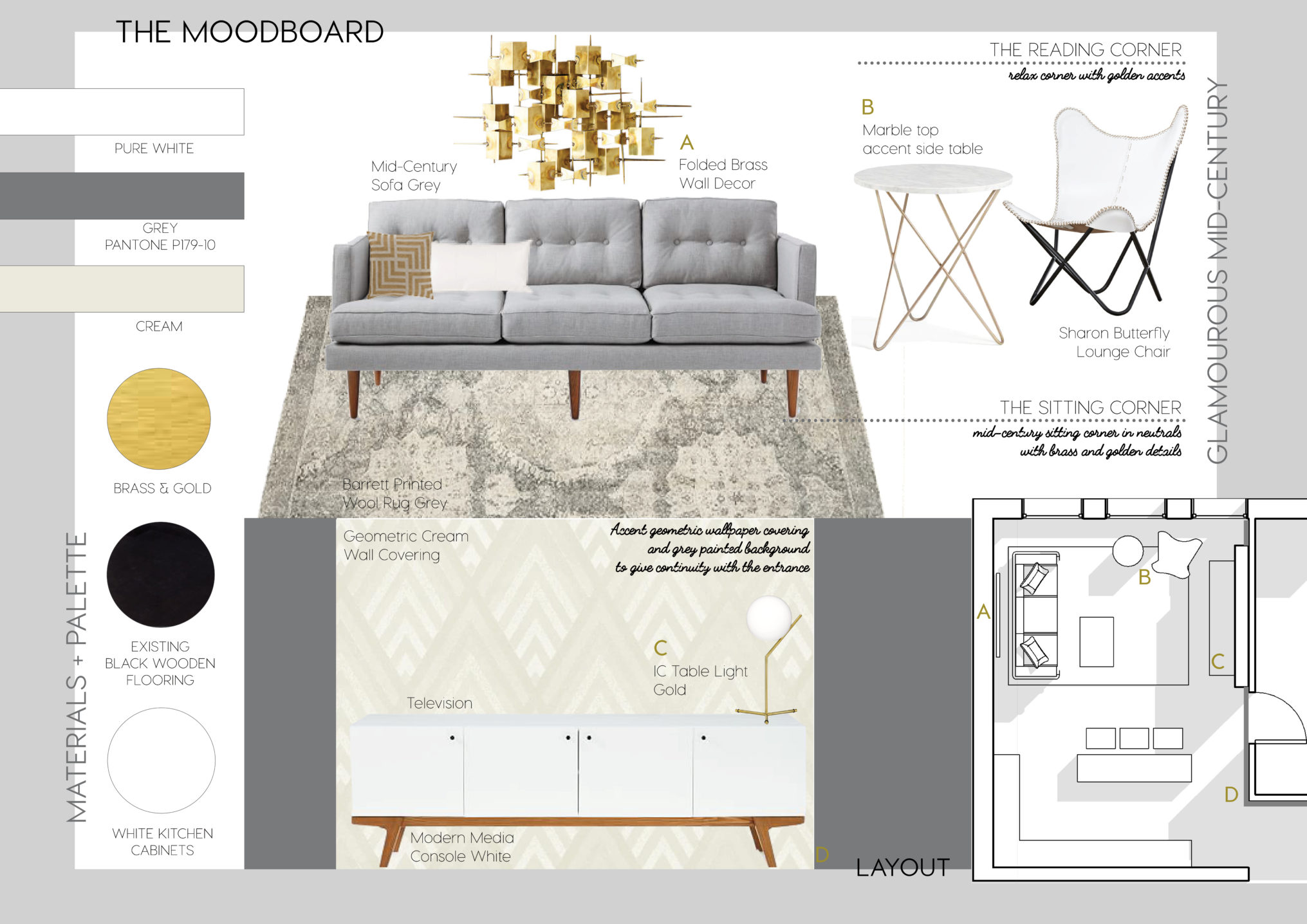 E Interior Design Services E Design Living Room With Mid Century Mood And Glam Touch