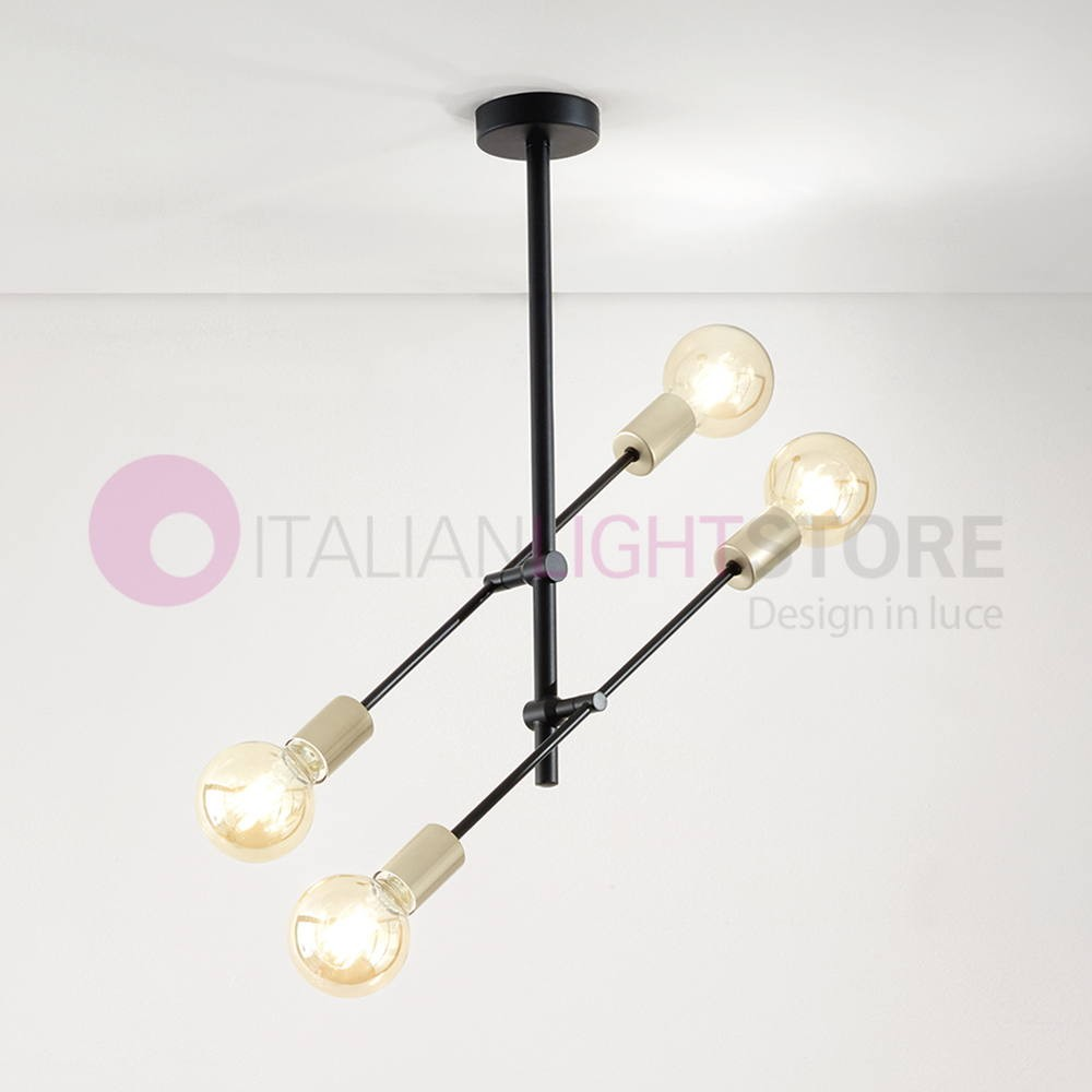 Glass Lamp Vector Vector Ceiling Lamp Light Fixture Swivel 4 Light Industrial Design