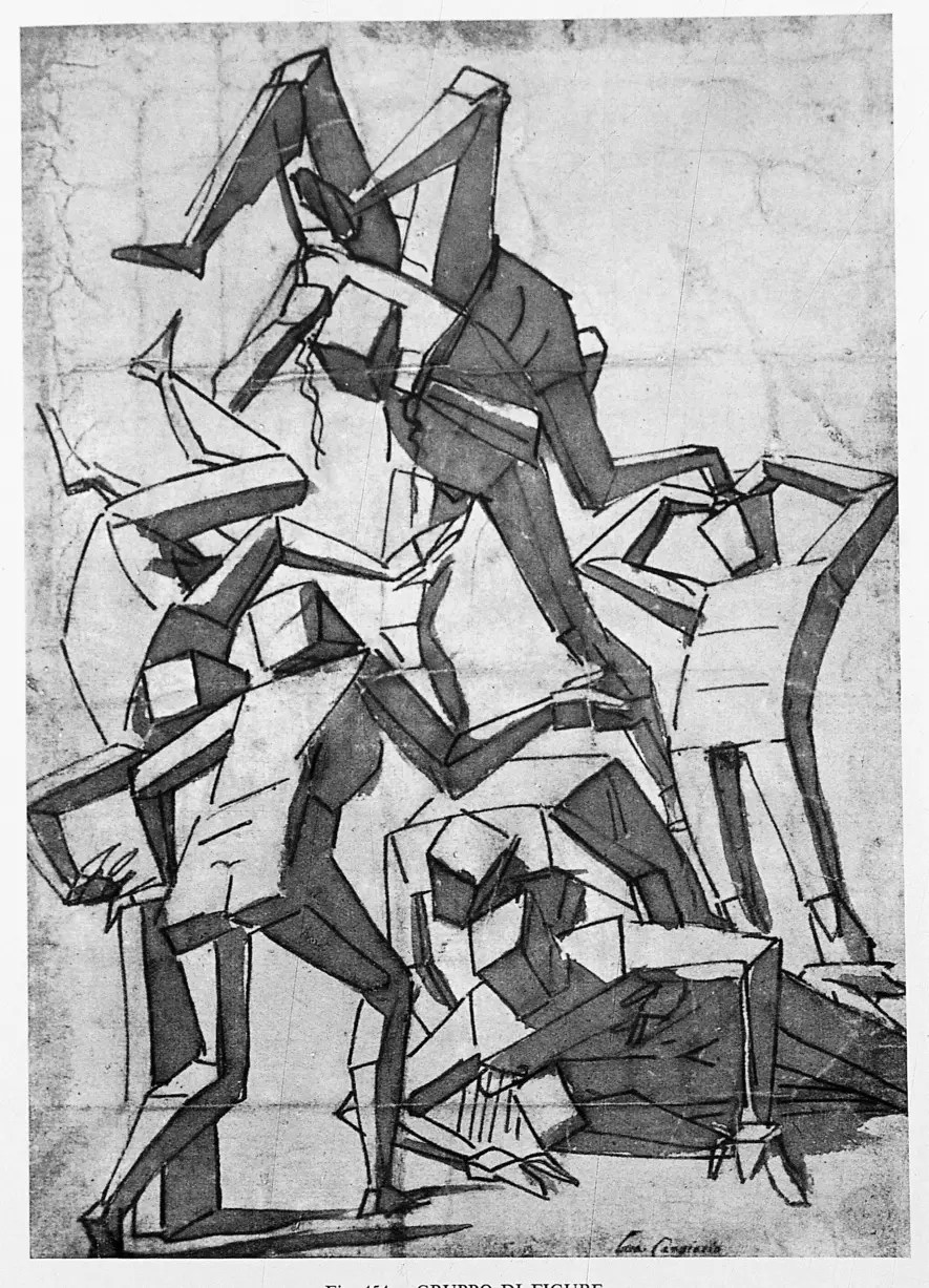 Arte Visual Group Fortunato Depero In 1919 Cima