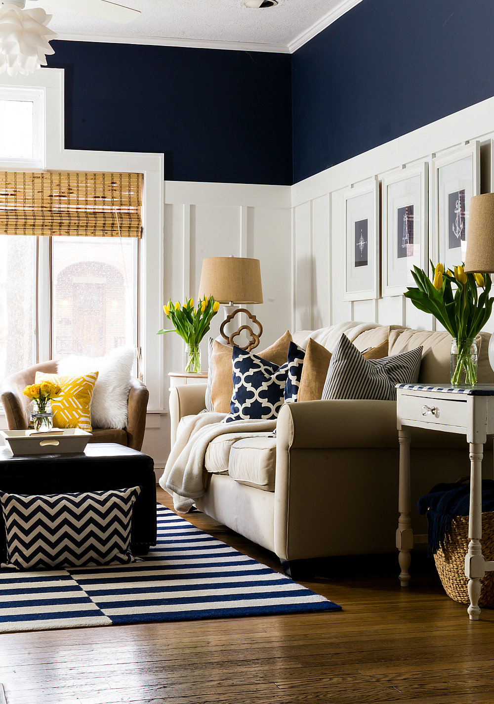 Yellow Decor For Living Room Spring Decor Ideas In Navy And Yellow It All Started With Paint