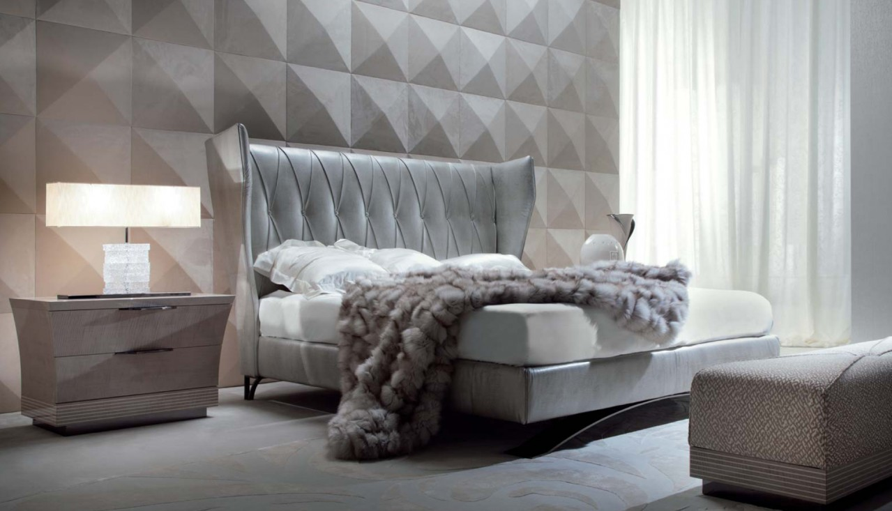 Italian Furniture Bedroom Modern Italian California King Bed Giorgio Alchemy Los