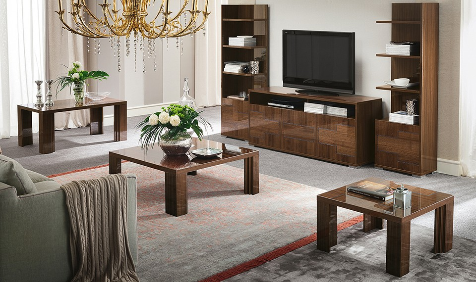 Memphis Entertainment Center Tv Stand Wall Unit Encino - Woonkamer Meubels Sets