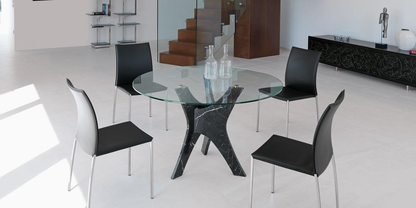 Modern Dining Table Chairs Brera Round Dining Table