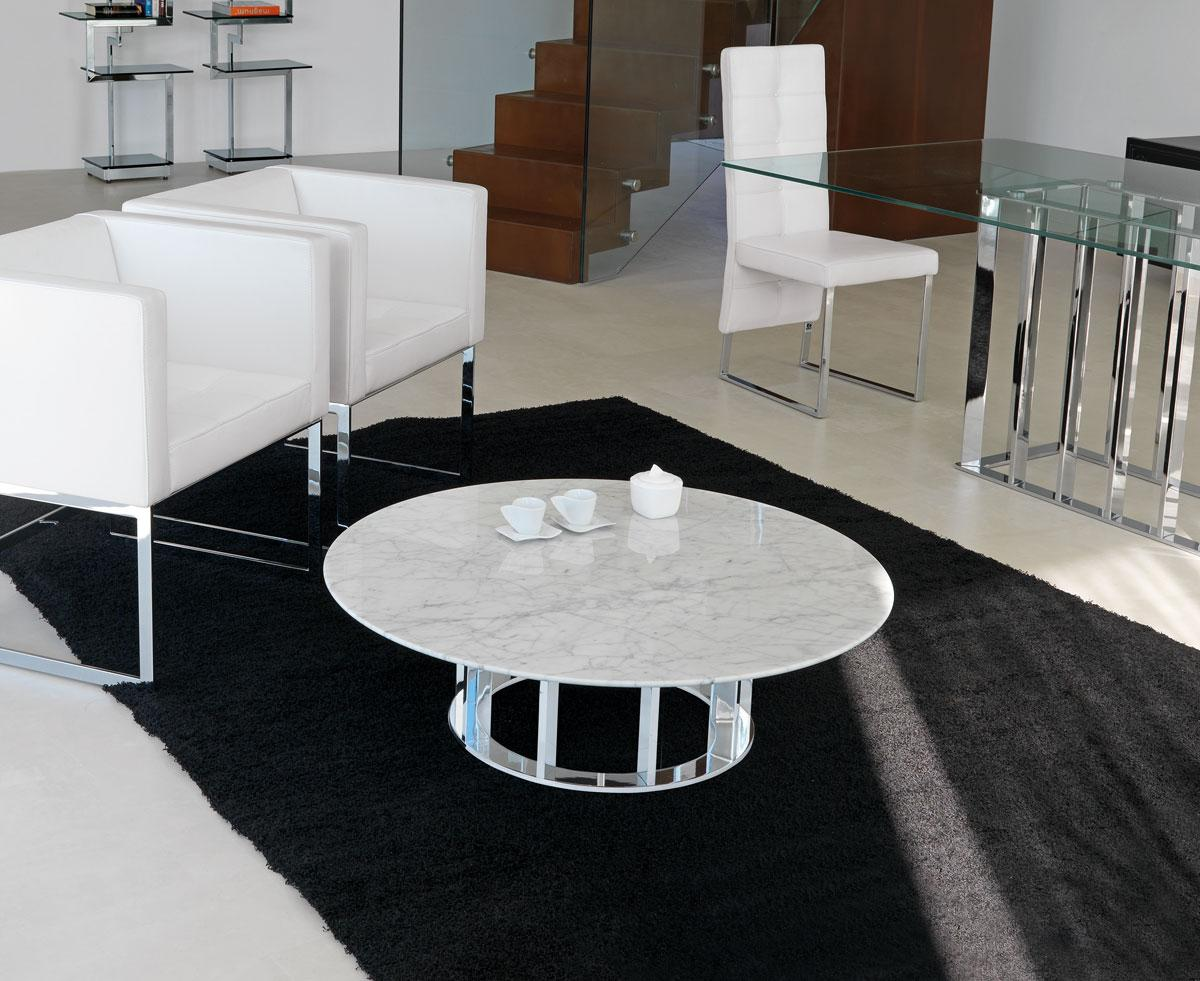 Table Basse Ronde En Verre Design Naxos Table Basse Ronde
