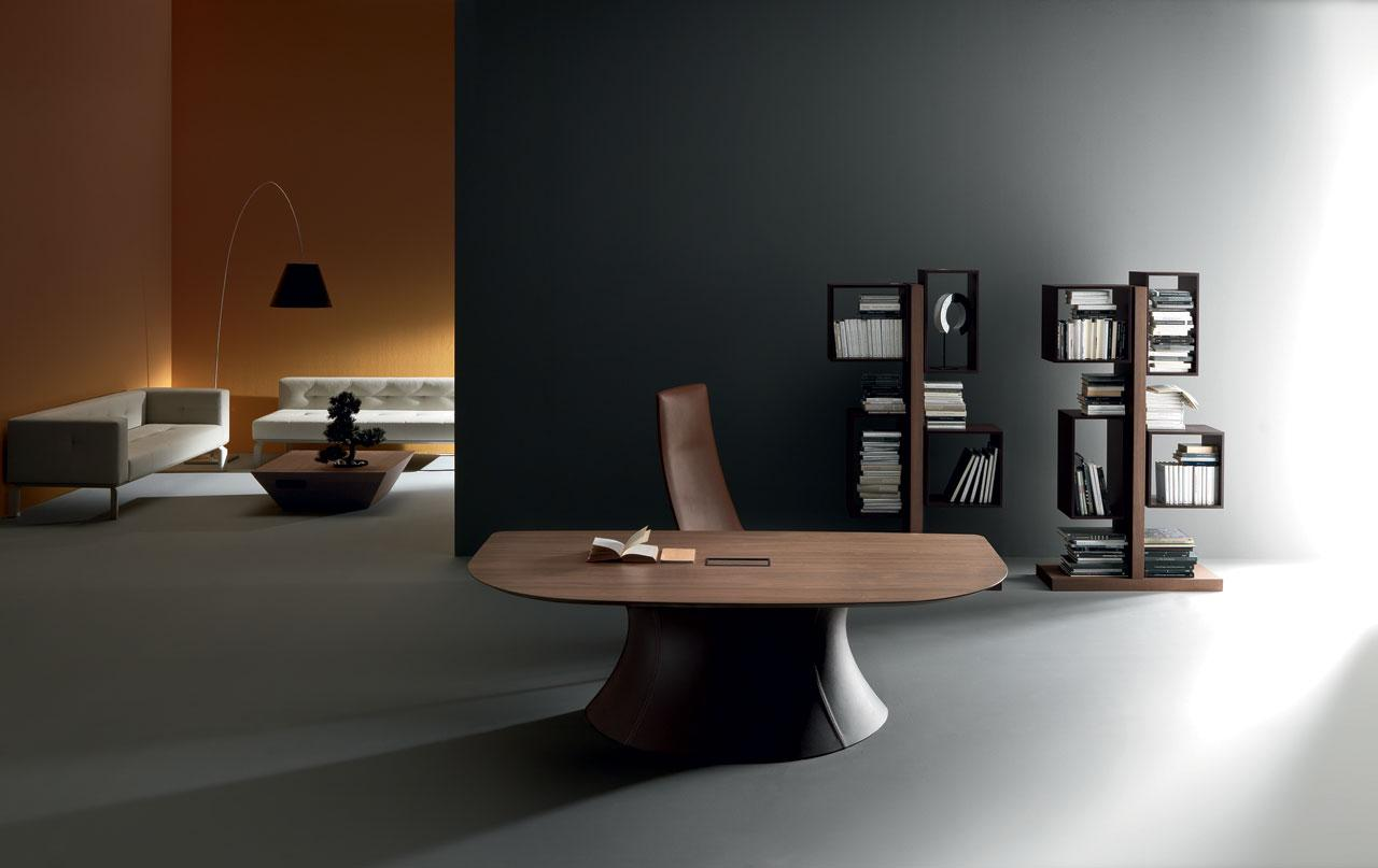 Ola Executive Office Desk With Walnut Top Shop Online Italy Dream Design