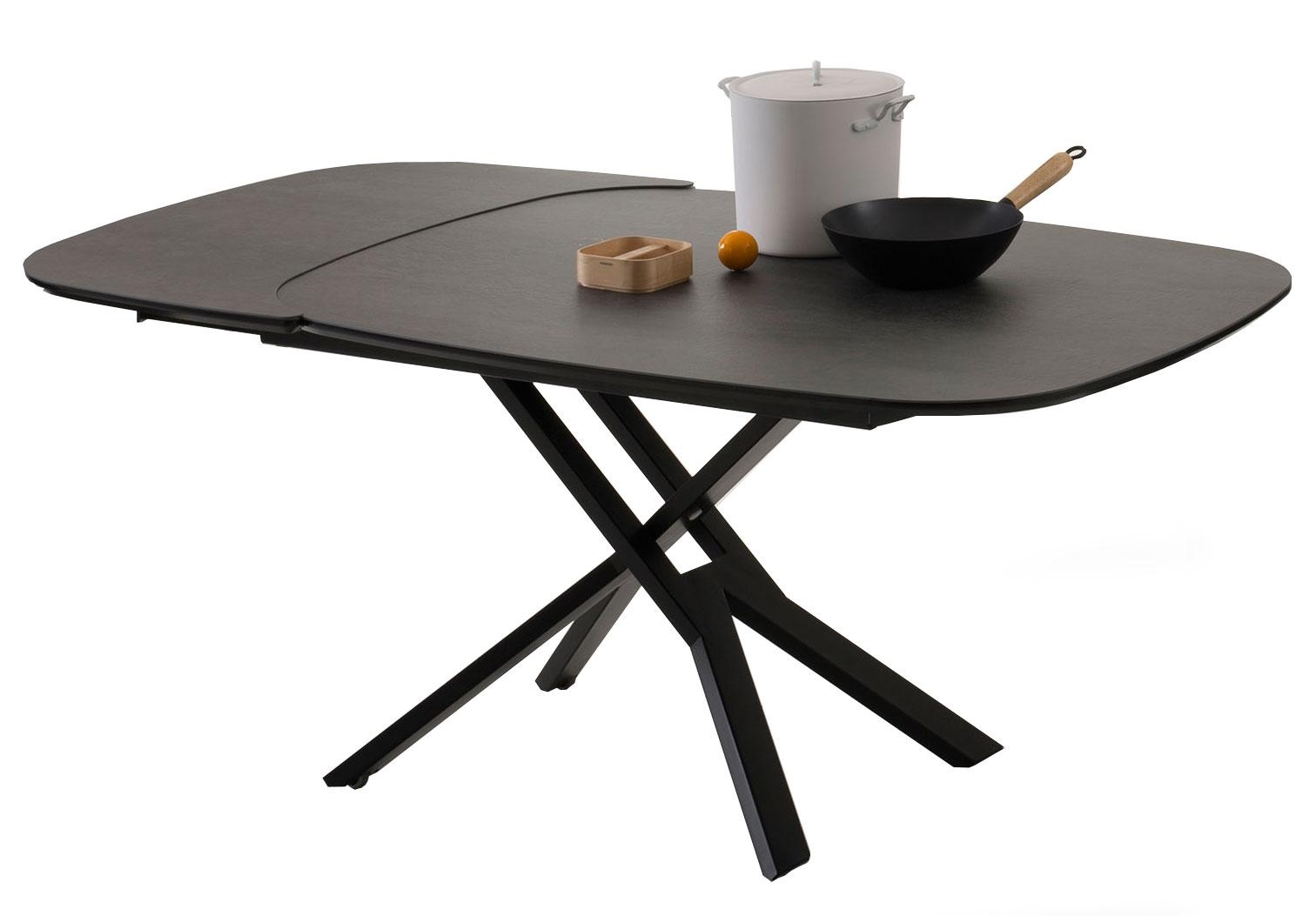 Table Salon Ceramique Place Table Transformable Elliptique
