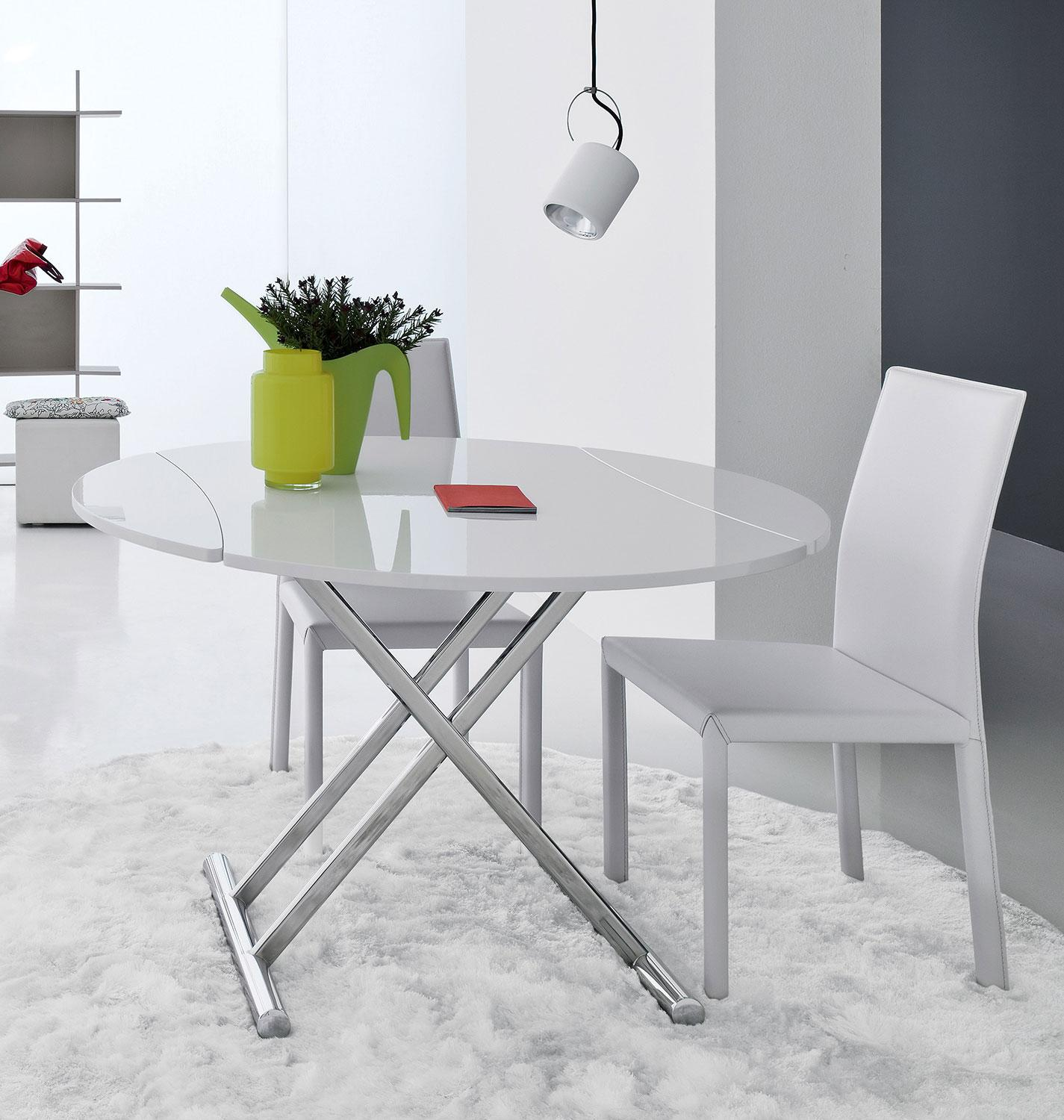 Table Ronde De Salon Up And Down Table Transformable