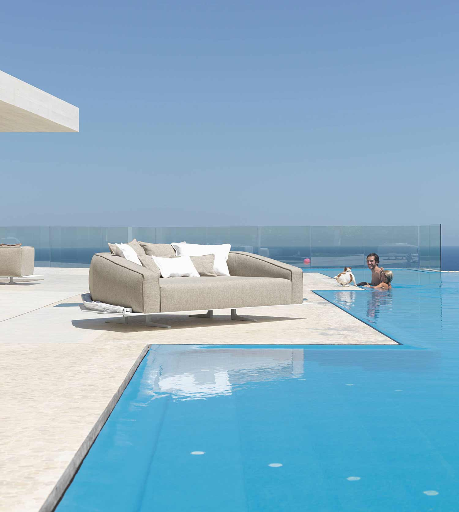 Piscina Componibile Heaven Luxury Outdoor Daybed In Aluminium Shop Online